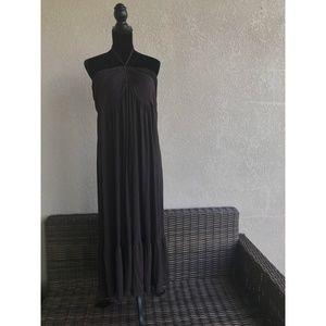 Maternal America Brown Halter LONG Dress NEW XL